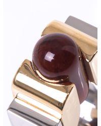 Balenciaga - Metallic Round Slice Ring - Lyst