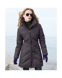 Calvin Klein - Gray Hooded Quilted Puffer - Lyst
