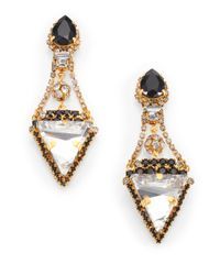 Erickson Beamon | Metallic Envy Velocity Crystal Drop Earrings | Lyst