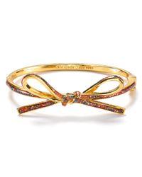 kate spade new york - Multicolor Skinny Mini Bow Bangle - Lyst
