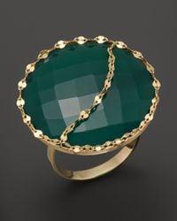 Lana Jewelry | Metallic 14K Gold And Green Onyx Glow Ring | Lyst