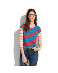 Madewell - Multicolor Long-sleeve Tee in Colorblock Stripe - Lyst