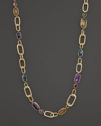 Marco Bicego | Yellow Murano Link Mixed Stone Convertible Necklace, 25.5"