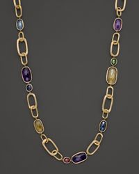 Marco Bicego | Yellow Murano Link Mixed Stone Necklace, 19.75"