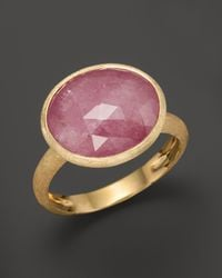 Marco Bicego | Yellow Siviglia 18k Gold Pink Sapphire Ring | Lyst