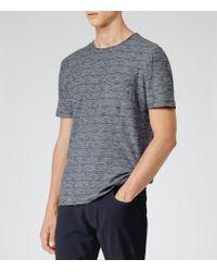 Reiss | Blue Mayers Flecked T-shirt for Men | Lyst