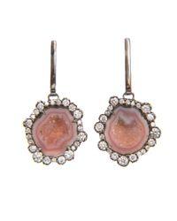 Kimberly Mcdonald | Pink Geode and Irregular Diamond Earrings | Lyst