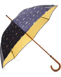 London Undercover | Blue Doublelayered Dog Print Umbrella | Lyst