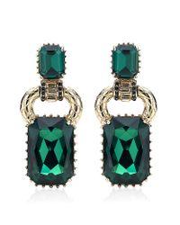 Roberto Cavalli | Green Swarovski Drop Earrings | Lyst