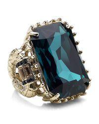 Roberto Cavalli | Pink Swarovski Crystal Cocktail Ring | Lyst