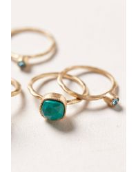 Anthropologie | Green Turquoise Serpentes Ring Set | Lyst