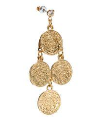 ASOS - Metallic Asos Coin Chandelier Earrings - Lyst