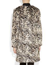 By Malene Birger - White Scarlettes Leopard print Faux Fur Coat - Lyst