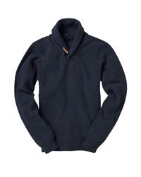 French Connection - Blue Lambswool Wrap Pullover for Men - Lyst