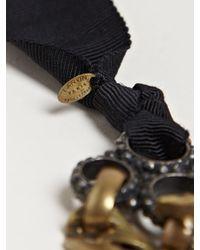 Lanvin - Metallic Show Piece Collier Necklace - Lyst