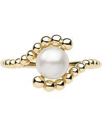Links of London - White Effervescence 18 Carat Gold Mini Pearl Ring - For Women - Lyst