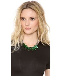 Noir Jewelry - Metallic Crystal Necklace - Lyst