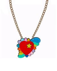 Orla Kiely - Red Tatty Devine Psychedelic Heart Necklace - Lyst
