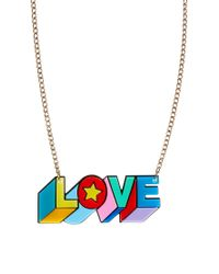 Tatty Devine | Red Psychedelic Love Necklace | Lyst