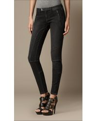 Burberry - Clipstone Black Wash Skinny Fit Jeans - Lyst