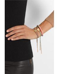 Carolina Bucci - Green Lucky 18karat Gold Diamond and Silk Charm Bracelet - Lyst