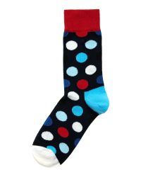 Happy Socks - Blue Big Dot Ankle Socks - Lyst