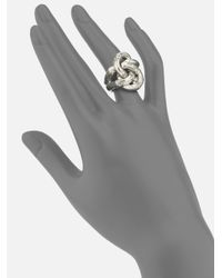 John Hardy - Metallic Bamboo Sterling Silver Knot Ring - Lyst