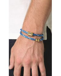Miansai | Blue Casing Rope Wrap Bracelet for Men | Lyst