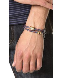 Miansai - Brown Casing Rope Wrap Bracelet for Men - Lyst