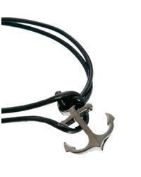 Simon Carter   Black Anchor Bracelet Necklace Gift Set for Men   Lyst