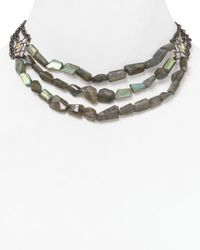 Alexis Bittar | Gray Jardin De Papillon Lace Labradorite Beaded Necklace 16 | Lyst