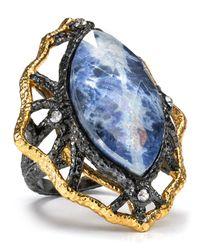Alexis Bittar - Metallic Jardin De Papillon Lace Sodalite Ring - Lyst