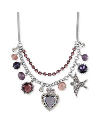 Betsey Johnson | Metallic Iconic Charm Necklace | Lyst