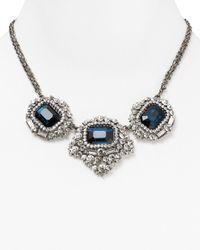 Cara | Metallic Blue Stone Statement Necklace 16 | Lyst