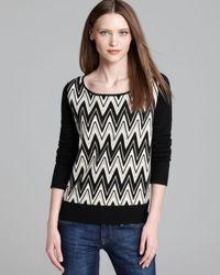 Ella Moss | Black Sweater Matilda Zigzag | Lyst