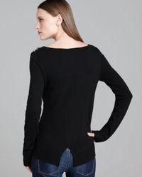 Ella Moss   Black Sweater Matilda Zigzag   Lyst