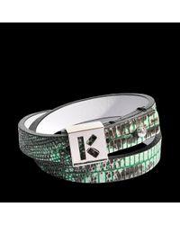 KENZO - Green Double Rang Bracelet - Lyst