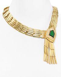 Rachel Zoe - Metallic Statement Necklace 18 - Lyst