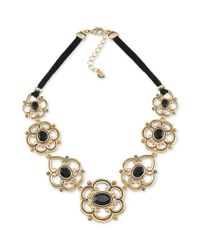 Carolee - Metallic Gold Tone Frontal Statement Necklace - Lyst