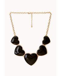 Forever 21 - Metallic Crazy Heart Bib Necklace - Lyst