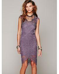 Free People | Purple Intimately Womens Peekaboo Lace Slip | Lyst