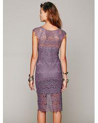 Free People - Purple Intimately Womens Peekaboo Lace Slip - Lyst