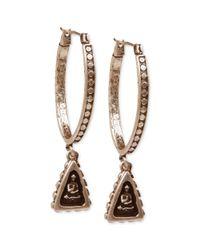 Lucky Brand - Metallic Goldtone Small Shrine Hoop Earrings - Lyst