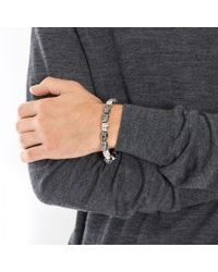 Simon Carter - Gray Skull Beaded Bracelet for Men - Lyst