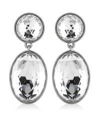 Swarovski | Metallic Vanilla Long Crystal Earrings | Lyst