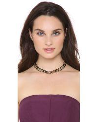 Adia Kibur - Black Weave Link Necklace - Lyst