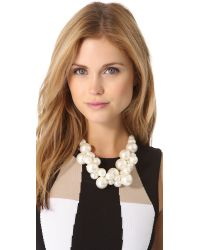 Adia Kibur - White Cluster Necklace - Lyst