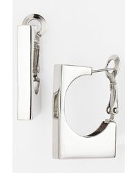 Adia Kibur | Metallic Rectangular Hoop Earrings | Lyst