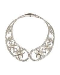 Alexander McQueen | Metallic Silvertone Swarovski Crystal Collar Necklace | Lyst