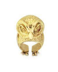 Bernard Delettrez - Metallic Bronze Big Owl Ring - Lyst